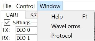 Figure 5. Window menu.