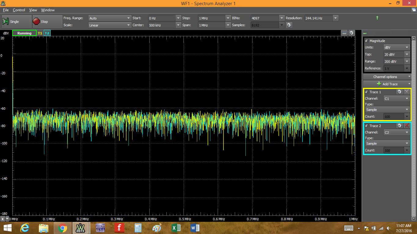 Figure 7. Turn on waveform generator and analyzer.