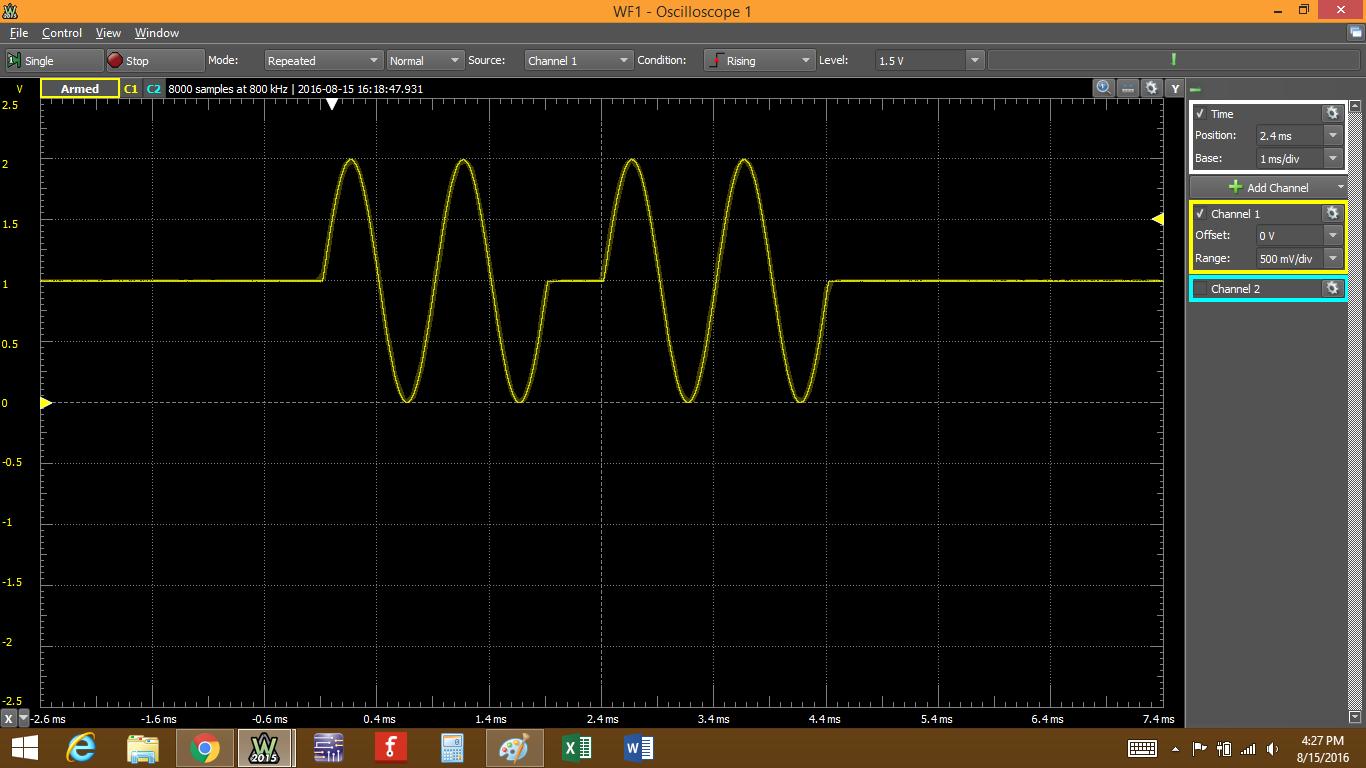 Figure 16. Verifying with oscilloscope.