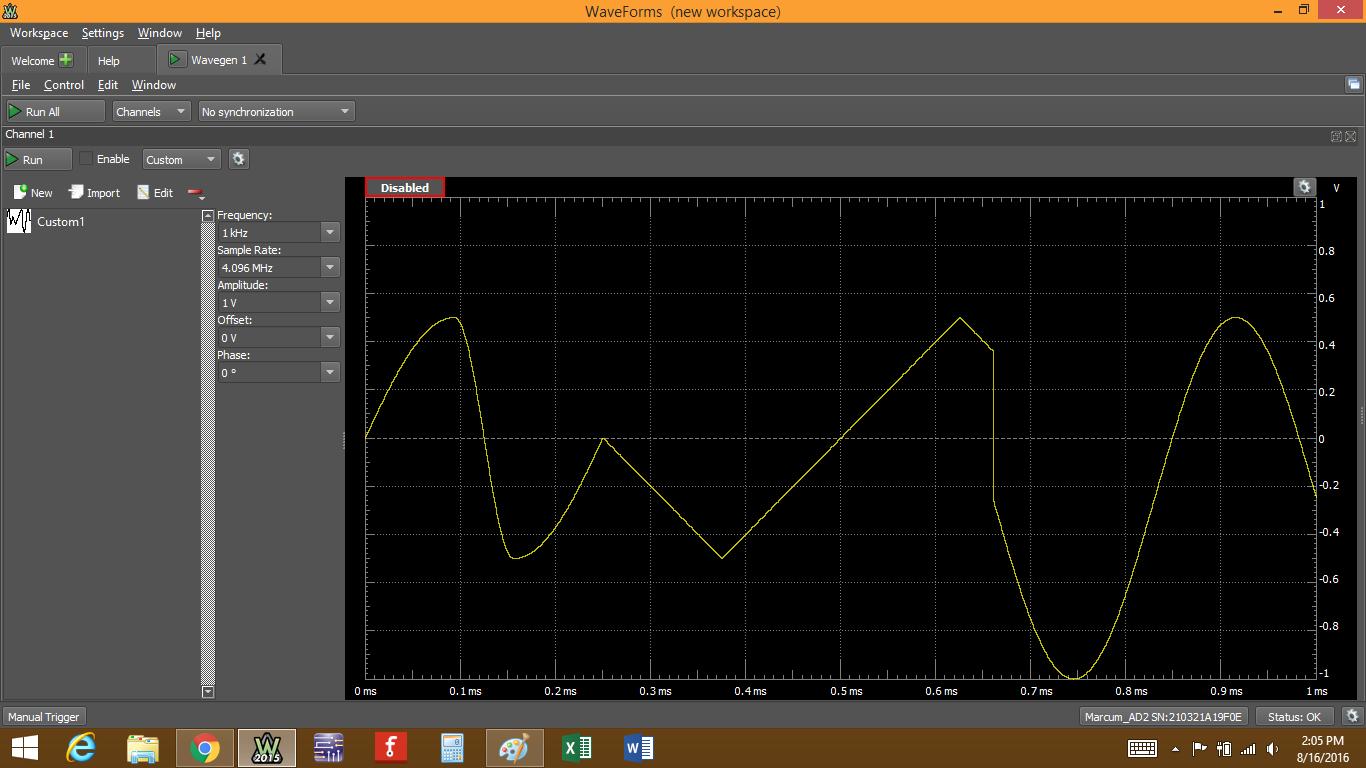 Figure 52. Saved waveform.