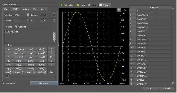 Using the Waveform Generator [Reference Digilentinc]