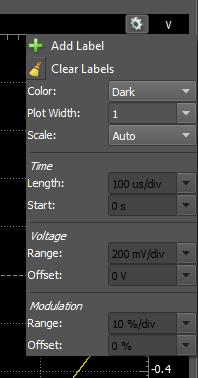 Figure 90. Plot window parameters.