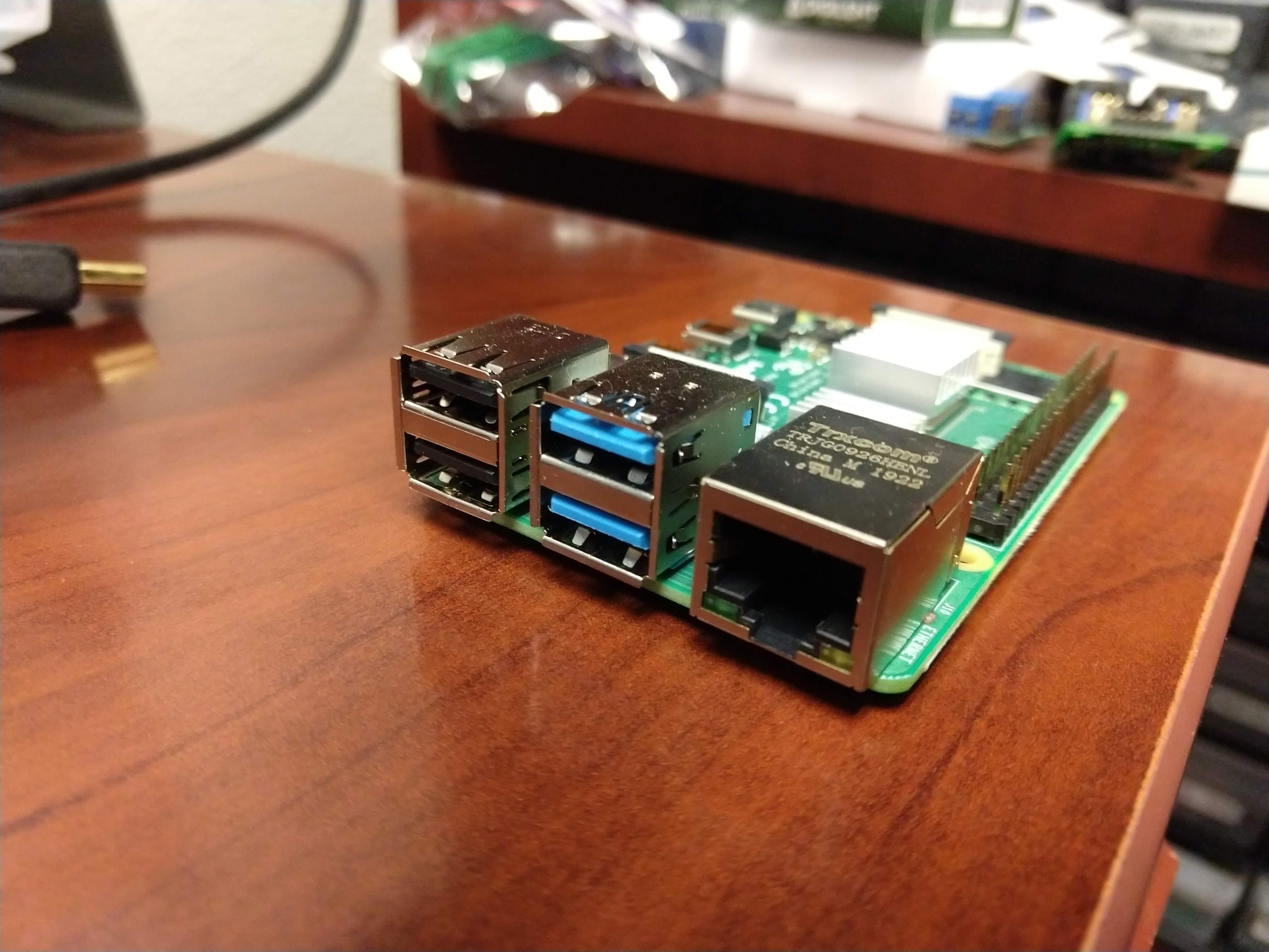 Blue USB 3.0 ports
