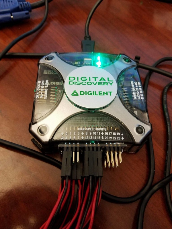 High Speed Adapter plugged into Digital Discovery