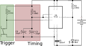 Figure 7. 555 circuit schematic for P24.
