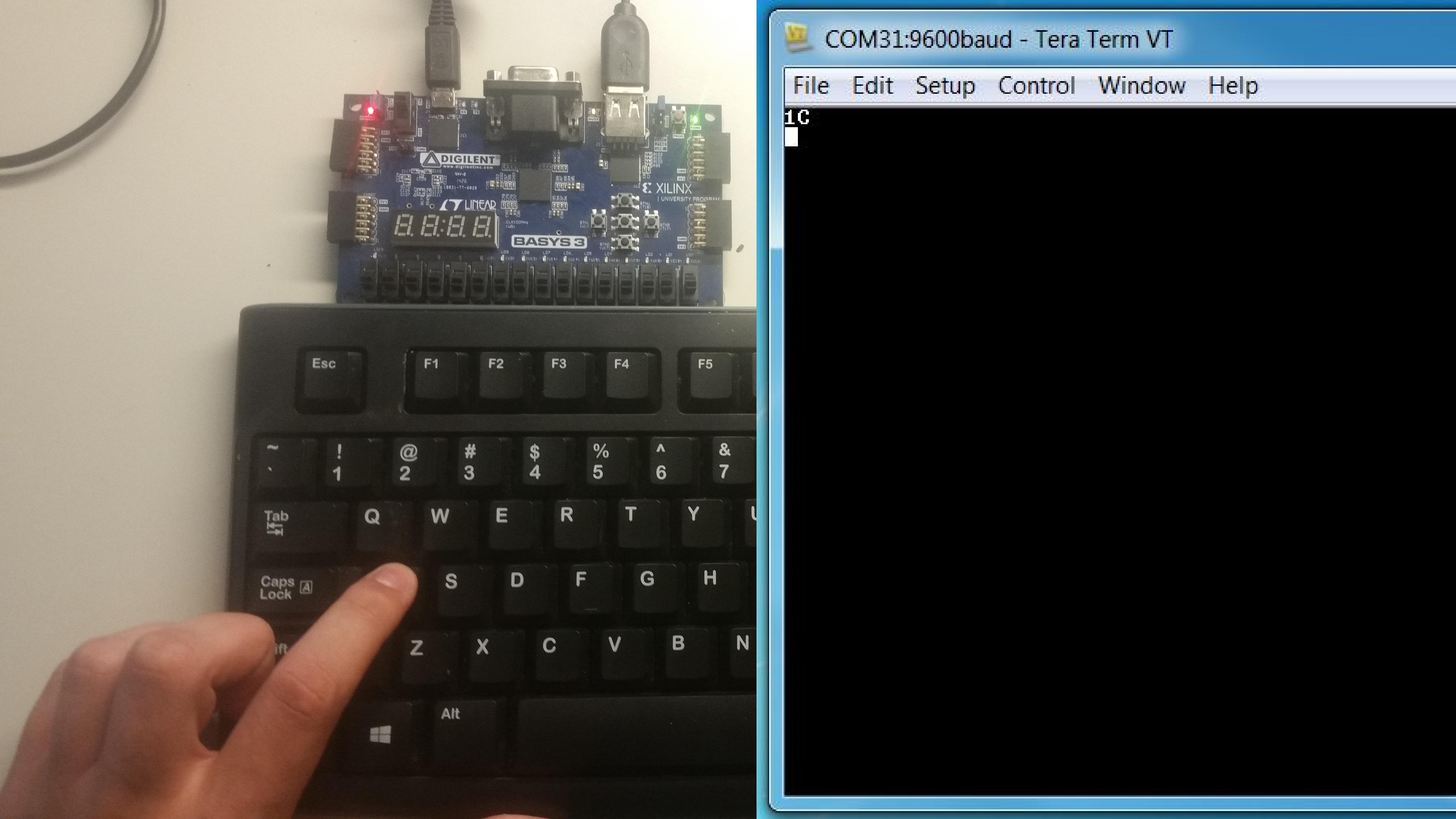 Basys 3 Keyboard Demo [Reference Digilentinc]