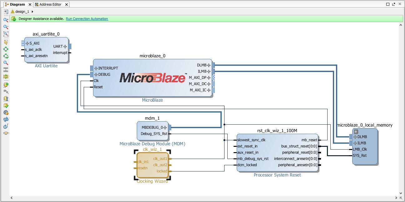 Nexys 4 Ddr Getting Started With Microblaze Referencedigilentinc Virtex 6 Block Diagram