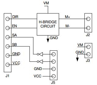 Pmod HB3 Block Diagram