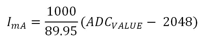 Pmod ISNS20 Current Calculation