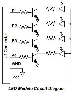 Pmod LED block diagram