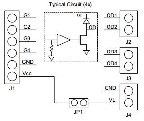 Pmod OD1 Block Diagram