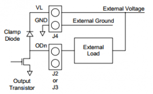 Output Circuit with a Load Connection