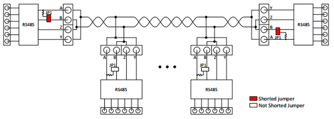 rs 485 2wire wiring diagram rs 485 connector wiring