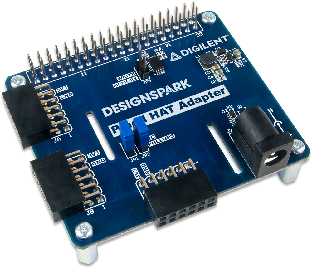 Pmod Hat Adapter Referencedigilentinc Integrated Circuits Tutorials Designed In Collaboration With Rs Components Users Can Take Advantage Of Example Python Libraries And Demo Hosted On Designspark
