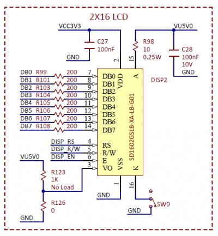 Figure 7.1. LCD schematic.