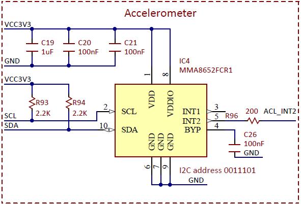 Figure 10.1. Accelerometer schematic.