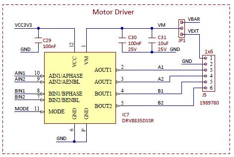 Figure 14.1. Motor driver schematic diagram.