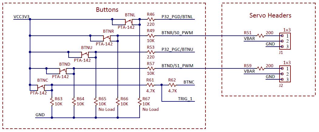 Figure 15.1. Servo header schematic diagram.