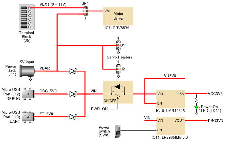 Figure 2.1. Power supply circuit.