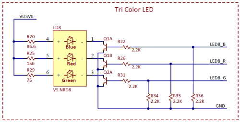 Figure 6.1. RGB LED Schematic.