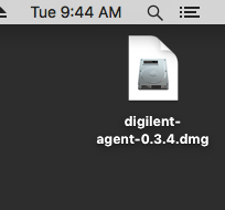 Install the Digilent Agent on Mac [Reference Digilentinc]