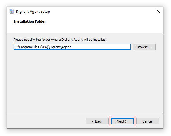 Install the Digilent Agent on Windows [Reference Digilentinc]