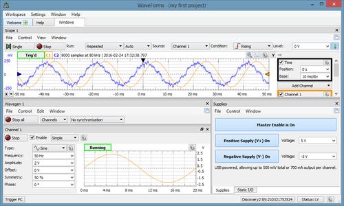 WaveForms [Reference Digilentinc]