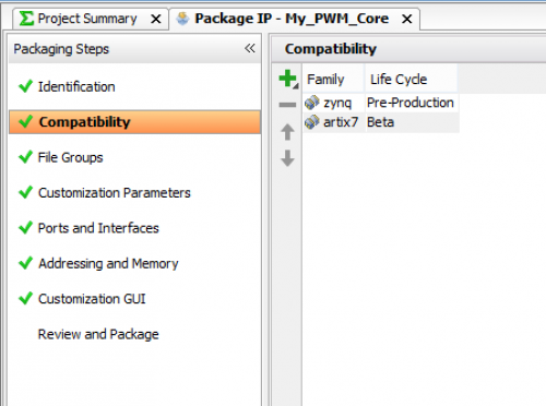 Creating a Custom IP core using the IP Integrator [Reference